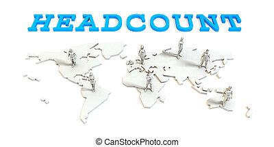 headcount, グローバルなビジネス