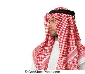 headdress., arabe, homme