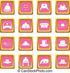 Headdress hat icons pink