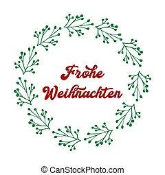 header., alegre, frohe, weihnachten, cartel, o, logotipo, ...