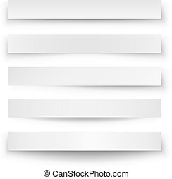 Header blank web banner shadow template isolated on white ...