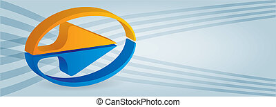 Header illustration for web site with copy paste area