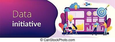 header., initiative, concept, bannière, données