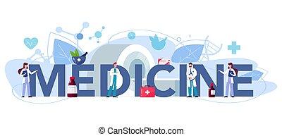 header., medecine, 印刷である, 検査しなさい, セラピスト, patient.