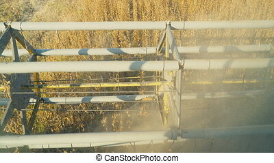 soybean combine harvester - header of a soybean combine...