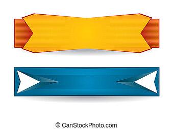 Header or banner design set