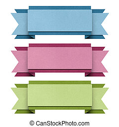 Header origami tag recycled paper . - Header origami tag...