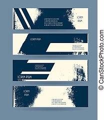 Header set. Creative banner grunge design. Vector illustration.