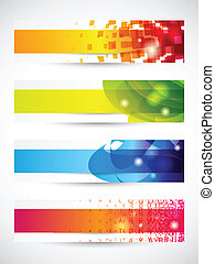 Header - Set of four headers or banners with copy space