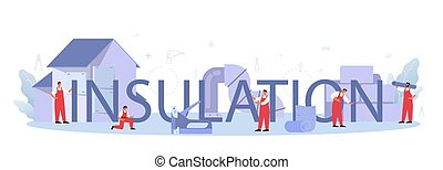 header., tipográfico, acústico, isolação, construção, ou, insulation., térmico