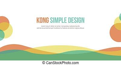 Header website colorful modern style