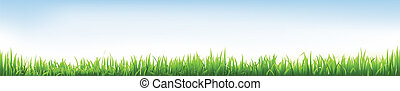 Header With Grass  - Header With Grass, Vector Illustration