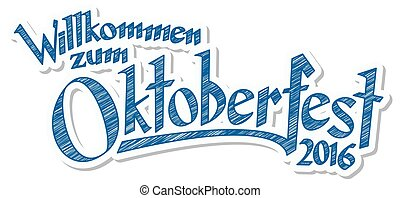 Header with text Oktoberfest 2016