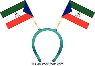 Headgear flag Equatorial Guinea - Headdress with a flag of...
