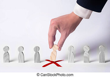 headhunter, concepto, recurso, work., gente, personal, despido, dentro, búsqueda, hombre de negocios, arriendo, team., selección, specialists., humano, nuevo, dirección, empleados, management.