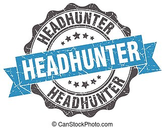 headhunter stamp. sign. seal