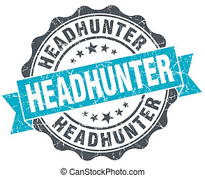 headhunter vintage turquoise seal isolated on white