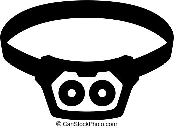flashlight clipart black and white. light sources clip art vectorby barbulat3196 headlamp shade picture flashlight clipart black and white