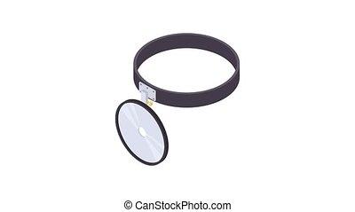Headlamp reflector icon animation best object on white background