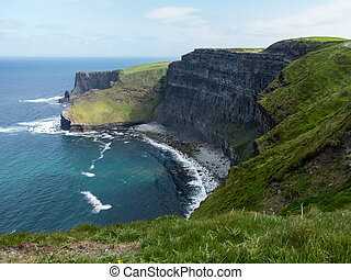 Headland at Cliffs of Moher - Cliffs of Moher in South...