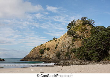 Headland at New Chum Beach New Zealand - Headland at New ...