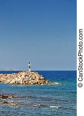 headland on the greek coastline