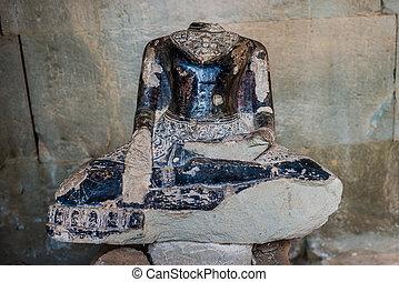 headless buddha statue Angkor Wat Cambodia