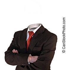 headless business man