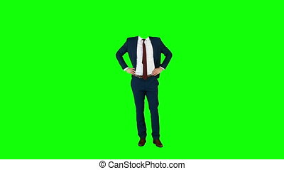 Headless businessman gesturing to camera - 1080p, hd, high...