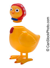 Headless chicken toy - Plastic toy chicken with it\\\'s head...