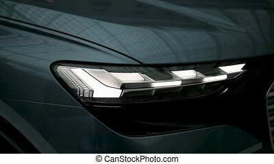 Headlight car of the future. Led car headlight