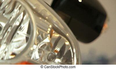 Headlight. Close-up - Auto headlight. Close-up