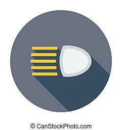 Headlight icon. - Headlight. Single flat color icon. Vector ...