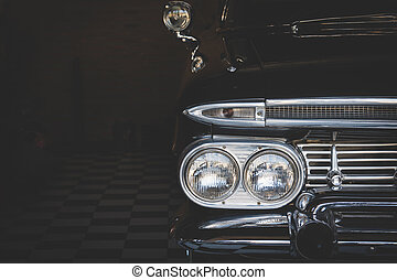 Headlight lamp vintage classic car