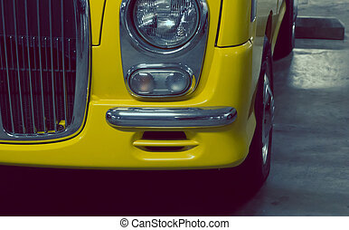 Headlight lamp yellow vintage classic car