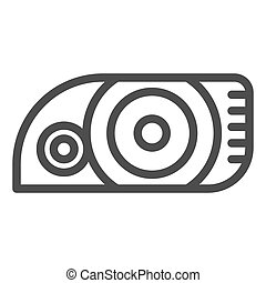 Headlight line icon. Car light vector illustration isolated on white. Automobile headlamp outline style design, designed for web and app. Eps 10.