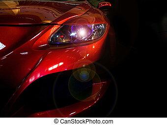 Headlight - Lit headlight causing artistic  lens flare