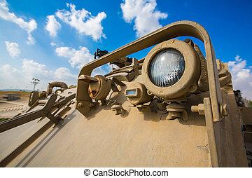 Headlight military equipment - Headlight of the old military...