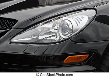 Headlight of a modern sports car