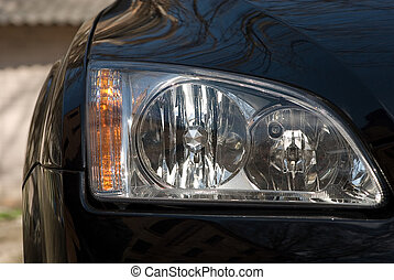 headlight of car