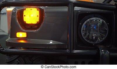 Headlight of SUV car