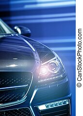 Headlight On Vehicle - Modern Vehicle Front Headlight.