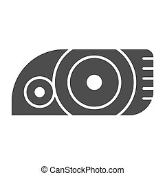 Headlight solid icon. Car light vector illustration isolated on white. Automobile headlamp glyph style design, designed for web and app. Eps 10.