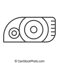 Headlight thin line icon. Car light vector illustration isolated on white. Automobile headlamp outline style design, designed for web and app. Eps 10.