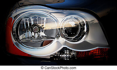 Headlight - This photograph represent a headlight of an ...