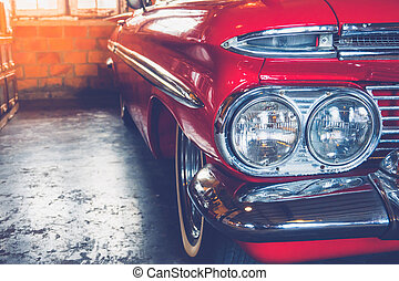 Headlight vintage car