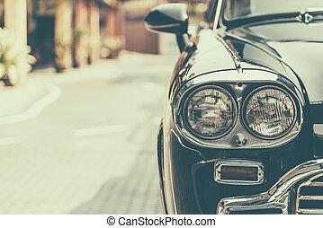 Headlight vintage classic car