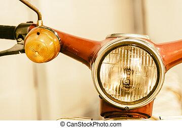 Headlight vintage motorcycle
