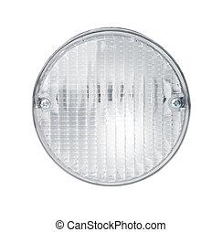 Headlights isolated with path - Car headlamp isolated on...