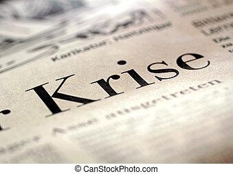 Headline Crisis - Big headline crisis in German business...